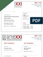 ARTEXXI - CURSOS REGULARES marzo 2020