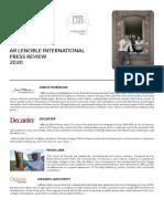 2020 Champagne AR Lenoble International Press Review