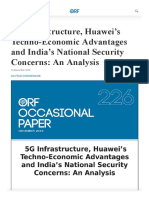 5G Infrastructure, Huawei's Techno-Economic Advantages and India's National Security Concerns_ An Analysis _ ORF