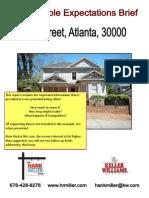 PreListing Brief for an Atlanta Home for Sale