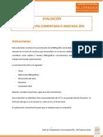 EVALUACION BIBLIOGRAFÍA COMENTADA 2019