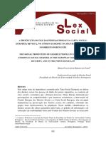 A protecção social das pessoas idosas