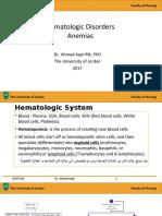 1-HEMATOLOGICAL DISORDERS DR AHMAD AQEL 12- 2017
