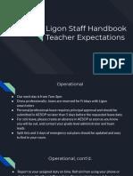 staff handbook expectation