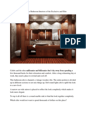 6 Exorbitance Bathroom Interiors Of The Exclusive And Elite Bathroom Architectural Design