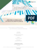 Guía para la Formulación Proyectos Arquitectónicos [Arquinube]