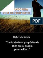 EDIFICANDO UNA VIDA DE PROPOSITO