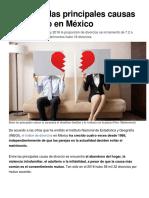 Estas son las principales causas de divorcio en México