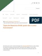 Tipos de Memória RAM, quais são e como funcionam_.pdf