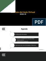 Gestión del aula virtual 2020