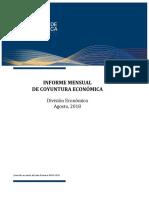 Informe Mensual de Coyuntura Económica agosto 2018