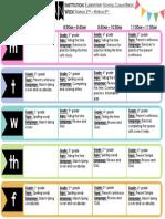 Cuauhtémoc Weekly Planner III