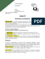 Unidad IV Materiales Aglomerados (Concreto)