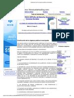 Clasificación de los ingresos públicos municipales
