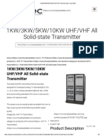 1KW_3KW_5KW_10KW UHF_VHF All Solid-state Transmitter