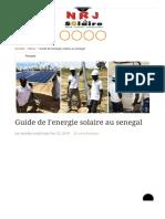 Guide de l'energie solaire au Sénégal _ NRJSOLAIRE