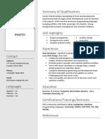 Format-for-Resume