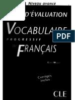 Vocabulaire Progress If Du Francais - Tests