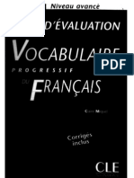 Vocabulaire Progress If Du Francais - Tests