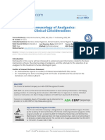 Pharmacology of Analgesics Clinical Considerations