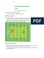 5 Basic Fundamentals for Goalkeeper Training (PDF)