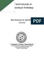 DSA Course Outline Spring 2020
