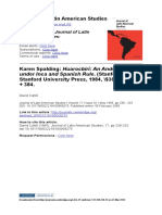 Journal of Latin American Studies Volume 17 issue 1 1985 [doi 10.1017_S0022216X00009275] Cahill, David -- Karen Spalding- Huarocbirí- An Andean Society under Inca and Spanish Rule. (Stanford- Stanfo