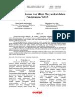 Tingkat Pemahaman dan Minat Masyarakat dalam Penggunaan Fintech.pdf