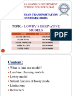 UTS PPT(39 TO 44) (LOWRY'S DERIVATIVE MODELS)