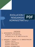 UNIDAD II EVOLUCION DEL PENSAMIENTO ADMINISTRATIVO