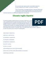diccionario Macroeconomico Ingles español