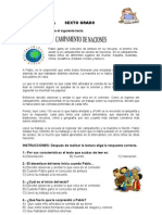 EXAMEN DIAGNOSTICO SEXTO GRADO. 25 REACTIVOS