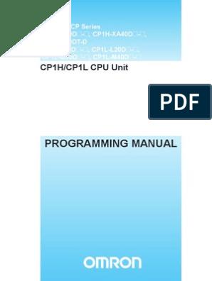 Omron PLC CP1H ProgManual | Programmable Logic Controller