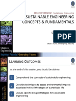 Lecture 3 - Sustainable Engineering Concepts  Fundamentals  SE Jan 2020