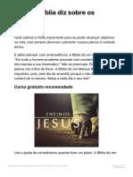O que a Bíblia diz sobre os planos? – Biblia.com.br