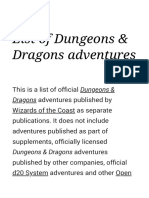 List of Dungeons & Dragons adventures - Wikipedia