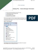 HP and Compaq Desktop PCs - Device Manager Information (Vista)