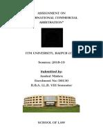 INTERNATIONAL COMMERCIAL ARBITRATION.docx