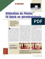 Utilisation du Photac en gérodontologie