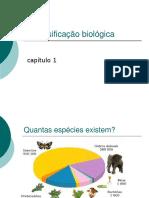 A classificação biológicae evoluçãoppt