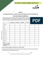 Anexo III Verificacion Familia Numerosa CURSOS DE INGLÉS PARA JÓVENES SEMANA SANTA 2020 Castilla y León