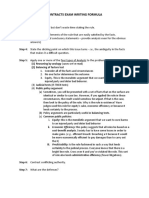 Exam Writing Formula and Issue Checklist