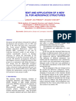 DEVELOPMENT AND APPLICATION OF A NEW DESIGN TOOL FOR AEROSPACE STRUCTURES