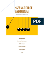 phys  conservation of momentum lab report