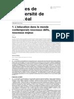 L'éducation pour tous - 1. L'éducation dans le monde contemporain nouveaux défis, nouveaux enjeux - Presses de l'Université de Montréal