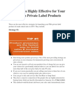 5 Strategies Highly Effective for Your Amazon Private Label Products