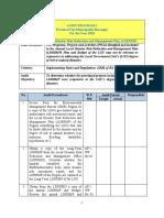 AUDIT PROGRAM no. 01 Planning