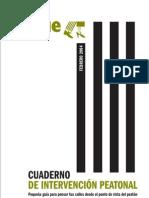 Cuaderno de Intervención Peatonal