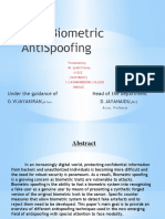 Face Biometric   AntiSpoofing
