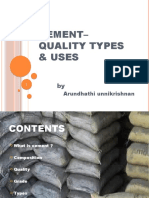 cement– quality types  & uses